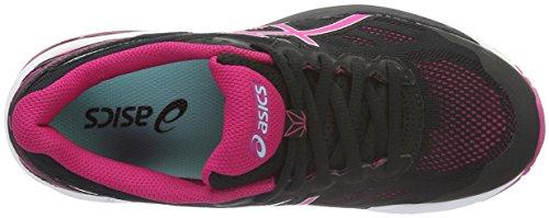 Asics Gt-1000 5, Chaussures de Running Compétition Femme Noir (Black/Sport Pink/Aruba Blue)