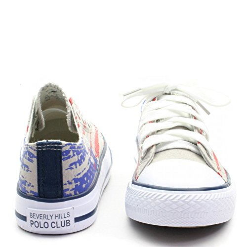 BH5059 Beverly Hills Polo Club Logoprint Sneekers Low Tops for Boy/Girl >      > Lo Top Sneakers pour garçon / fille Grey (gris)