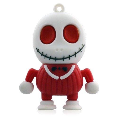 08 USB-Sticks (8 GB) Skelett Horror Halloween 3D rot (Lustige Halloween-symbole)