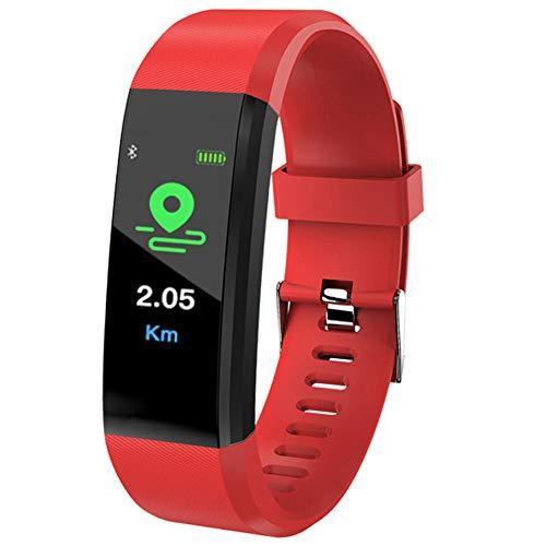 arthur sport fitness tracker band attività intelligente wristband impermeabile frequenza cardiaca monitor sonno, rosso