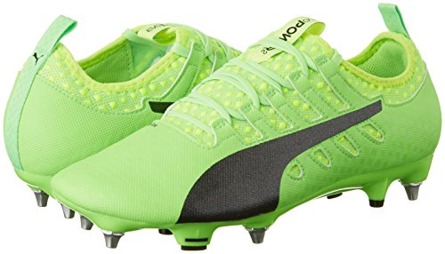 Puma Men s Evopower Vigor 2 Mx SG Football Boots   Green Gecko Black-Safety Yellow 01   8 UK