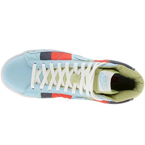 Rd Blu Appartamenti Mid Con pwdr Polvere Blazer Femmine Le Nike Lacci wht Bl Premium Cmt Pelle Per In 7RnpxqO