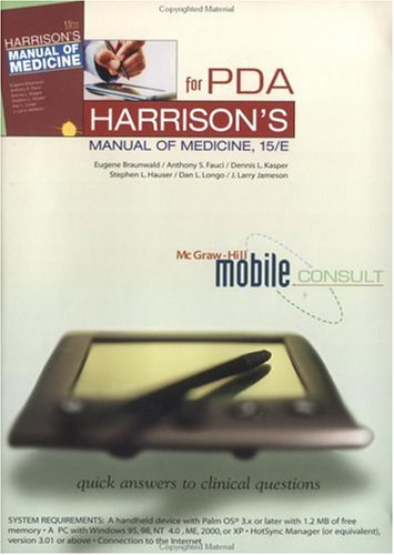 Harrison's Manual of Medicine, 1 CD-ROM for PDA For Windows 95/98/NT 4.0/ME/2000/XP and Palm OS 3.x - Palm Os Mobile-pda