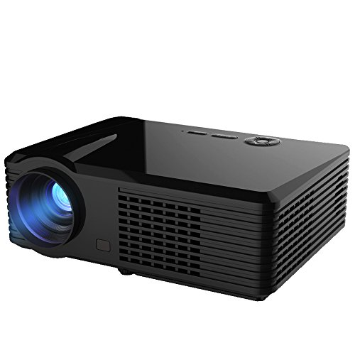 Simplebeam Android WIFI Projector PRS220 4.42 OS Bluetooth 200 2500 Lumens Led Portable Beamer for Home Theater with HDMI ,VGA ,USB Port(Black)