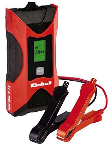 einhell batterie ladegeraet Einhell Batterie Ladegerät CC-BC 4 M (für Batterien von 3 bis 120 Ah, Ladespannung 6 V / 12 V, Winterlademodus, LCD-Batteriespannungs- und Ladeforschrittsanzeige)