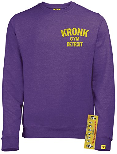 Kronk Boxing Gym Detroit Rundhalsausschnitt Sweatshirt Wladimir Klitschko Thomas Hearns Emanuel Steward Gr. XL, Purple Heather