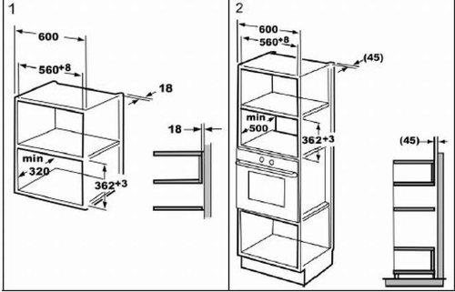 einbau mikrowelle mit rahmen und edelstahlfront 1000 watt grill 20. Black Bedroom Furniture Sets. Home Design Ideas