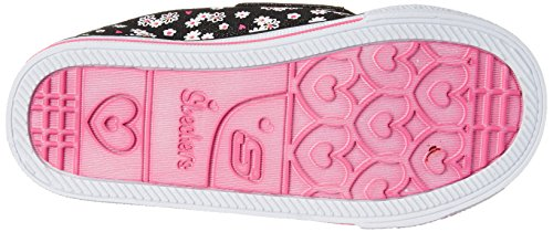 Skechers Shuffles Daisy Dotty, Baskets Basses Fille Noir (Noir/Rose)