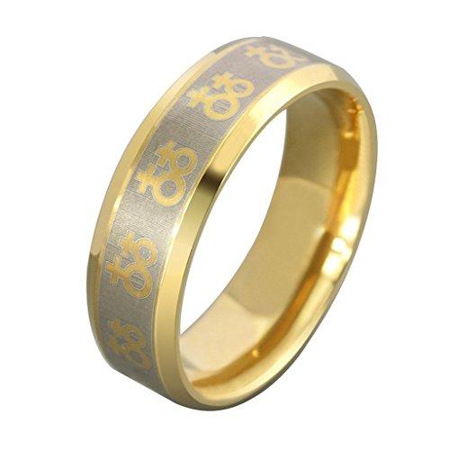 SonMo Silber Ring 925 Damen Paarringe Hochzeit Ring Verlobungsring Lesbisches Symbol Ring Silber Damen Gold 8Mm Damen Ring Breit für Frauen 65 (20.7)