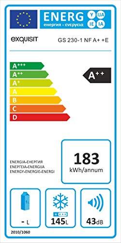 Exquisit GS 230-1 NF A++ E Gefriergerät/A++ / 145 liters