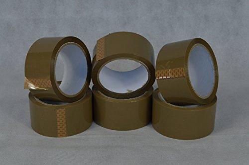 6 Rollen Klebeband Braun a 66 Meter Paketband. Packband,für Umzüge , Versand, Verpackung im Versandhandel,Privat usw.