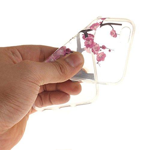 """Coque Case pour Apple iPhone 6 6S 4.7"""" Délicat Dessin Dessin Fleur Morning Glory Ultra Fine Transparente Souple TPU Gel Couleur19"""