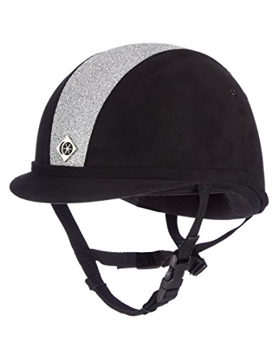 Charles Owen Sparkly YR8 Riding Hat 54cm Black and Silver
