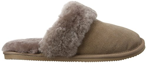 SNUGRUGS Mule With Sheepskin Cuff and Rubber Sole, Pantofole Donna Grigio (Grey (Mink))