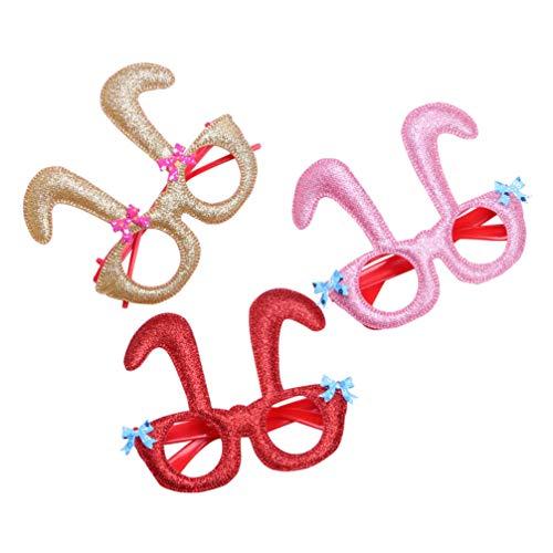 Amosfun Halloween Streich Kaninchen Requisiten Brillen Kinder Hase liefert Zubehör Geburtstag 9St (Kaninchen Kostüm Streich)