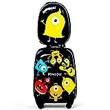 "GOPLUS Kinderkoffer 2-teilig mit Rucksack ""Monster"""