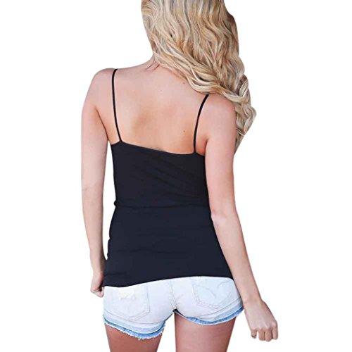LHWY Donna Senza Maniche Criss Cross Tank Top Camicetta T Shirt Black
