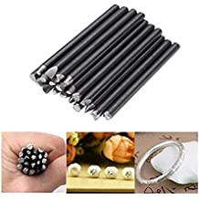 GOZAR 20Pcs Assorted Punches For Jewelry Flower Punch Stamp Steel Stamp Punch Tools
