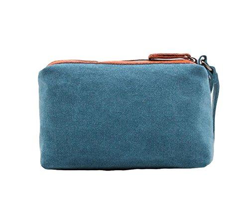 Segeltuch Beiläufige Art Und Weise Einfache Wilde Handbeutel Mit Handtasche Blue