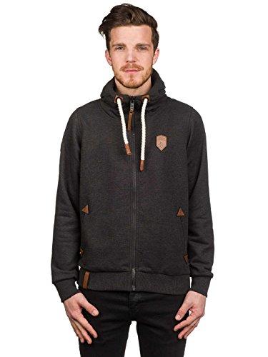 Price comparison product image Sweater Hooded Zip Men Naketano Schwarzkopf Zip Hoodie