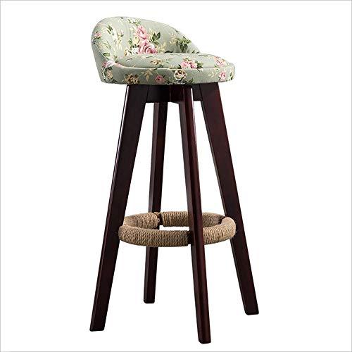 FENG Stuhl Holz Barstuhl, 360 ° drehende Moderne Casual Faux Leder/Stoff Esstisch und Stuhl Designer Hocker 7 Farben Möbel (Farbe : Fabric C) (Faux-leder-stühle)