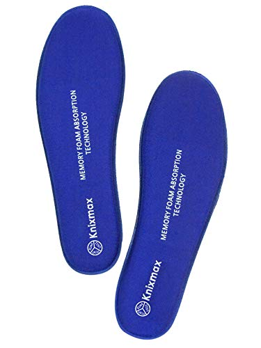 Knixmax Memory Einlegesohlen Warm Comfort für Freizeit und Beruf,Schulen -Optimale Schaum Sportkomfort Sohle EU 42-(UK8) Navy
