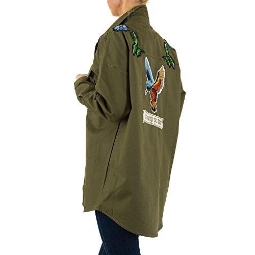Bestickte Military Jacke Für Damen bei Ital-Design Grün