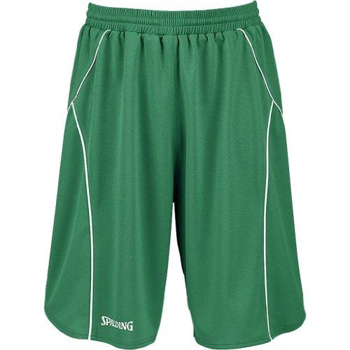 Spalding, Pantaloni corti Crossover Uomo - - Vert/Blanc