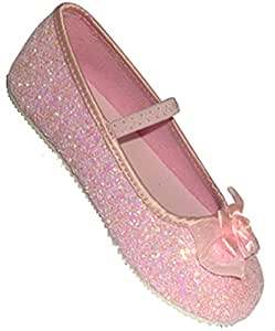 Pink Glitter Party Shoes - Kids Accessory 3 - 4 years