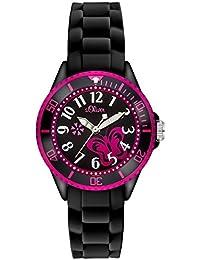 s.Oliver Mädchen-Armbanduhr Analog Quarz SO-2993-PQ