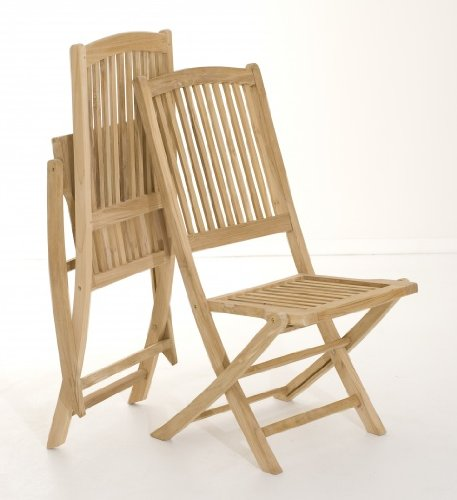 MACABANE 500966 Chaise, Brut, 53 x 116 x 21 cm, Lot de 2 chaises LOMBOCK (500977)