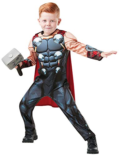 Kinder Deluxe Thor Kostüm - Thor Avengers Deluxe Kostüm für Kinder - Gr. L (7-8 Jahre)