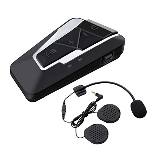 T9S*1 Intercomunicador Motocicleta Auricular Bluetooth Impermeable Intercomunicador(1200M /MP3 /GPS/Radio FM /350 Horas...