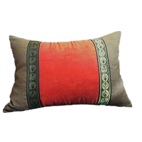 CUSHIONLIU orange Waist Pillow Suede Joint Long Waist Pillow foreign