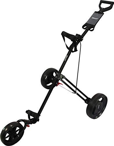 Bullet Cruiser XBU400005 Golf-Trolley mit 3 Rädern, zusammenklappbar, Schwarz