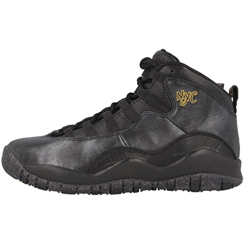 Nike Jungen Black-DRK Grey-Mtllc GLD Basketballschuhe Schwarz Grau, 37.5 EU -