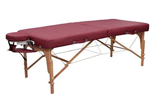 Preisvergleich Produktbild Massageliege Zen BigOne - Die klappbare und mobile Massagebank und Kosmetikliege für den Profi oder Heimbedarf - PVC-frei / PU-Kunstleder / Top Qualität / 10 Jahre Garantie / Farbe: Burgund
