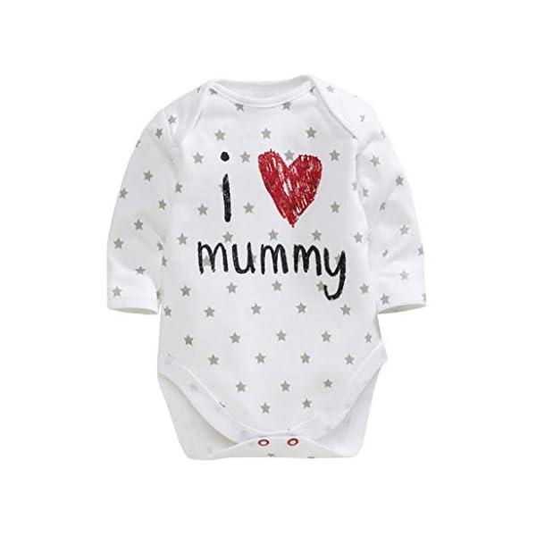 MAYOGO Mameluco Bebe Ropa Bebe Te Quiero Mama Mangas Largo Disfraz Bebe Niña Raya Ropa para Bebes Recien Nacidos Pelele… 1