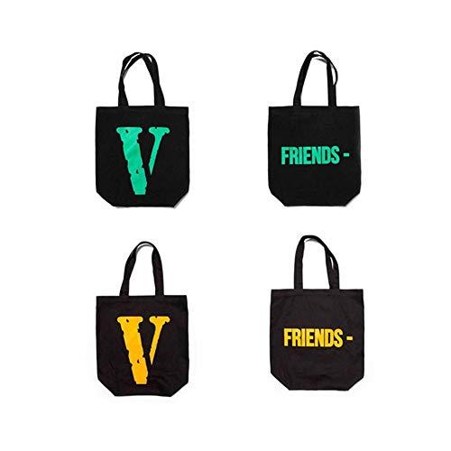 Vlone canvas bag large V FRIENDS shopping bag shoulder for sale  Delivered anywhere in UK