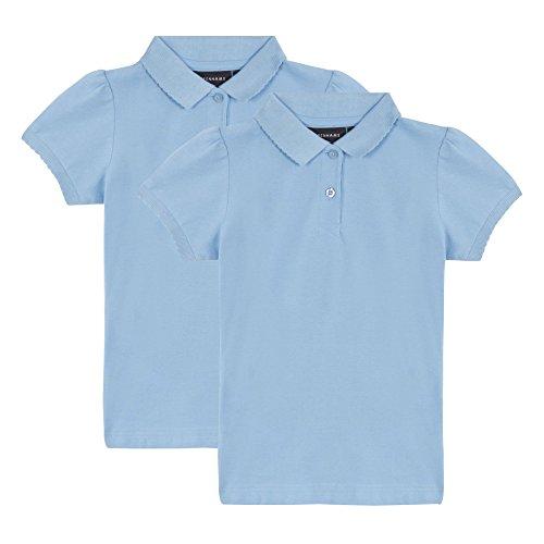 Debenhams-Kids-Pack-Of-Two-Girls-Blue-School-Polo-Shirts