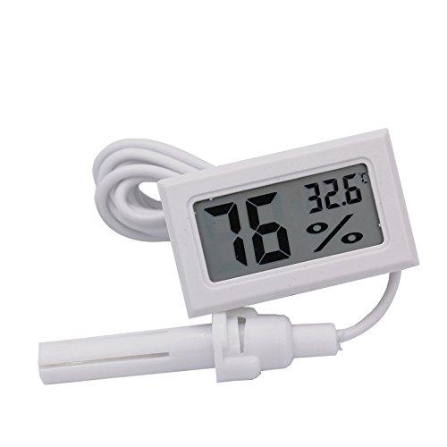 Hensych -50~ 70°C 10{0237f37a601004d48b5ccccbb768512485009fbee445c1ab09f87b0e3b024bed} ~ 99{0237f37a601004d48b5ccccbb768512485009fbee445c1ab09f87b0e3b024bed} RH LCD Digitale termometro e rilevatore di umidità per Acquario Rettile Incubatore Serra