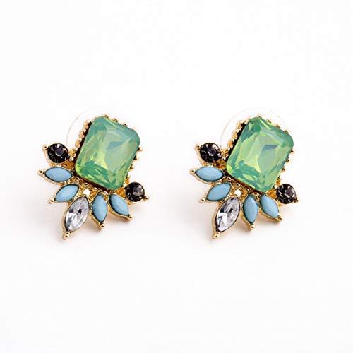 LOJBFD Imitazione orecchini smeraldo opal orecchini accessori gioielli delle donne moda