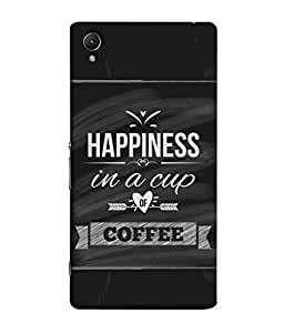 Sony Xperia Z1, Sony Xperia Z1 L39h, Sony Xperia Z1 C6902/L39h, Sony Xperia Z1 C6903, Sony Xperia Z1 C6906, Sony Xperia Z1 C6943 Back Cover Happiness In A Cup Of Coffee Design From FUSON