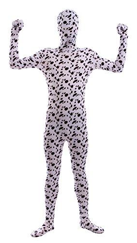 Sheface Adults Spandex Full Bodysuit Fancy Dress Halloween Costumes (Small, - Halloween Skin-suit Black