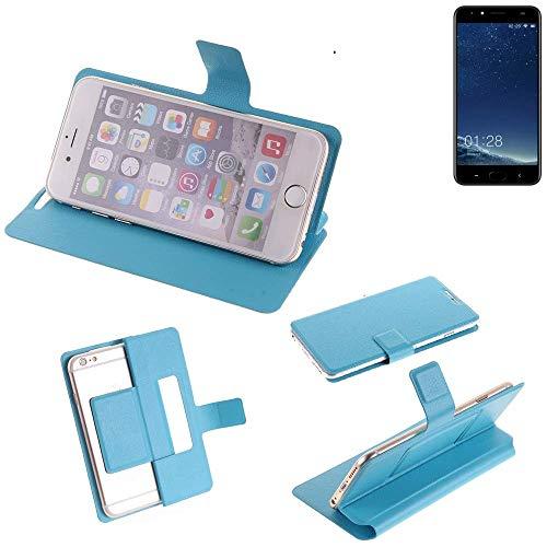K-S-Trade Flipcover für M-Horse Power 2 Schutz Hülle Schutzhülle Flip Cover Handy case Smartphone Handyhülle blau
