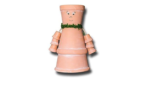 Tontopf Figur Blumentopf Halter Blumentopffigur Mit Pflanztopf HxØ24x13cm  (BP13): Amazon.de: Küche U0026 Haushalt