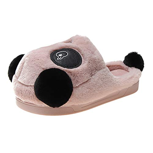 TEELONG Novelty Cartoon Slippers for Womens, Girls Cute Slippers Winter Warm Slippers Ladies Soft Cotton Slippers Breathable Non-Slip Slippers Indoor Outdoor Unisex Shoes Size 4-8.5 UK