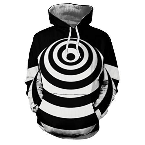 Honestyi Mens Casual Scary Halloween Liebhaber 3D Print Party Langarm Hoodie Top Bluse 232 Paar Halloween Langarm Sweatshirt mit 3D Druck