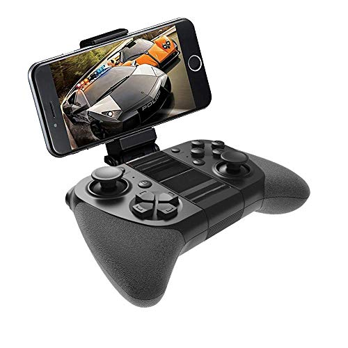 IOS Wireless Game Controller, MFi Certified iOS Wireless Gamepad Joystick with Clamp Holder for iPhone X, 8 Plus, 8, 7 Plus, 7 ,6S ,6 ,5S ,5, iPad Pro Air Mini