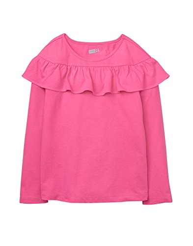Crazy 8 Girl's Long Sleeve Ruffle Shoulder Tee T-Shirt